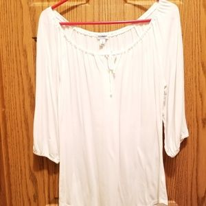 Old Navy white blouse sz Lg